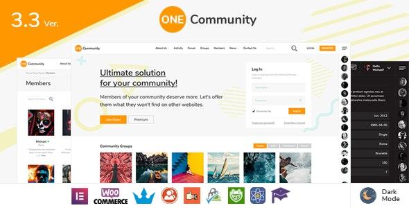 Download OneCommunity v3.6.2.1 - BuddyPress Nouveau Community Theme
