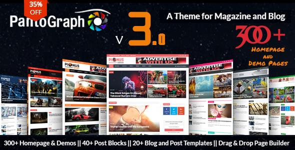 Download PantoGraph v3.1.1 – Newspaper Magazine Theme
