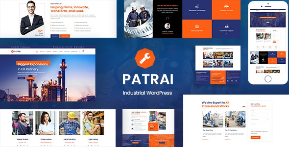 Download Patrai Industry v1.4 - Industrial WordPress