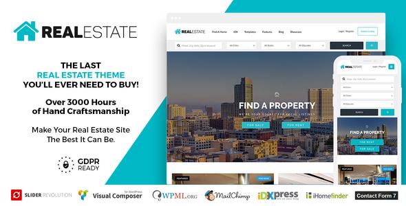 Download Real Estate 7 v2.9.7 - Real Estate WordPress Theme