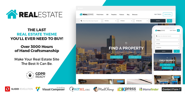Download Real Estate 7 v2.9.8 - Real Estate WordPress Theme