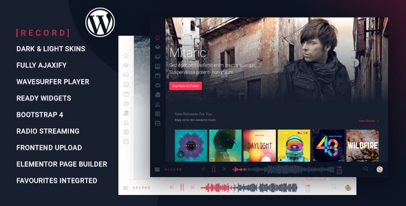 Download Rekord v1.3.5 - Ajaxify Music - Events - Podcasts Multipurpose WordPress Theme