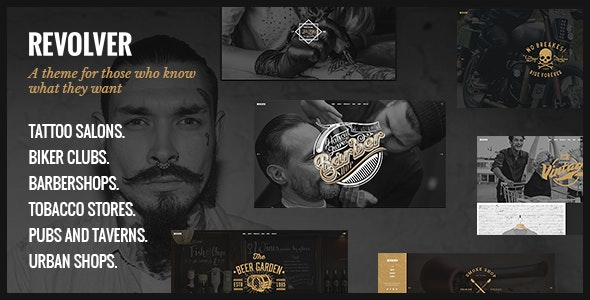 Download Revolver v1.6 – Tattoo Studio and Barbershop Theme