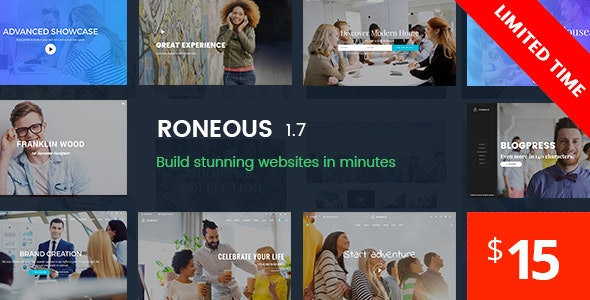Download Roneous v1.7.5 - Creative Multi-Purpose WordPress Theme