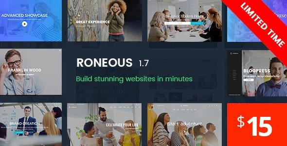 Download Roneous v1.7.7 - Creative Multi-Purpose WordPress Theme