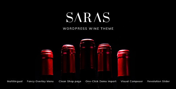 Download Saras v1.3 - Wine WordPress Theme