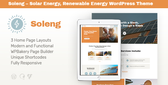 Download Soleng v1.0.6 - A Solar Energy Company WordPress Theme