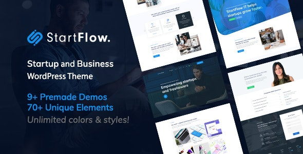 Download Start Flow v1.4 - Startup and Creative Multipurpose WordPress Theme