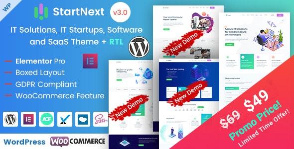 Download StartNext v3.3 – IT Startups WordPress Theme