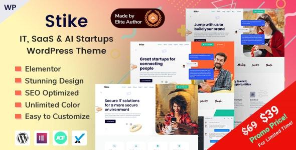 Download Stike v1.2.0 - IT Startups WordPress Theme