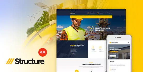 Download Structure v6.9 - Construction WordPress Theme