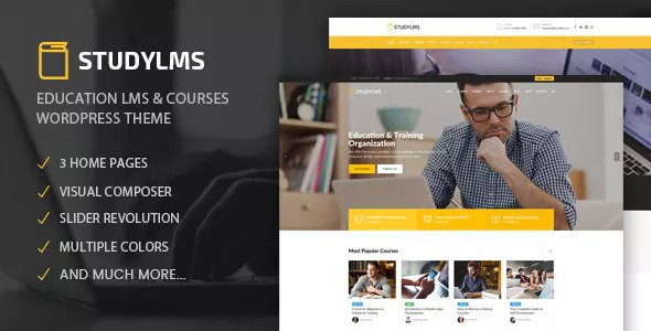 Download Studylms v1.12 - Education LMS & Courses Theme