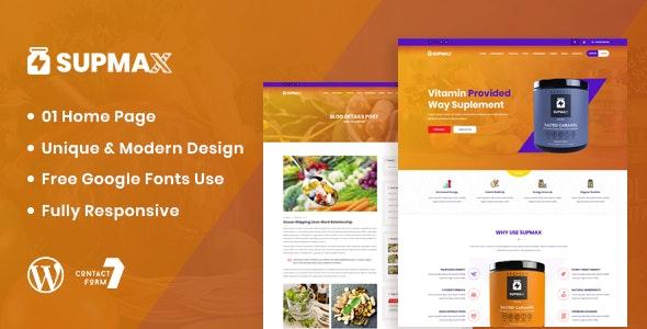 Download Supmax v1.0 - Health & Supplement WordPress Theme