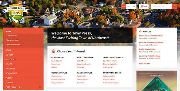 Download TownPress v3.2.1 - Municipality WordPress Theme