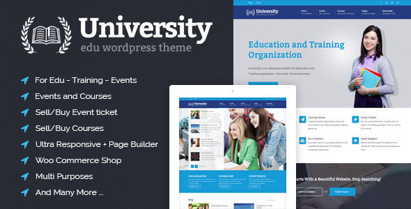 Download University v2.1.4.0 - Education, Event and Course Theme