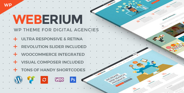 Download Weberium v1.6 - Theme Tailored for Digital Agencies