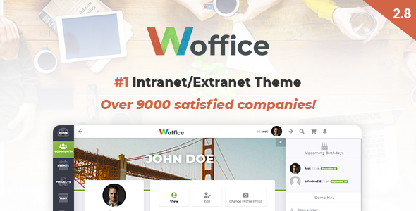 Download Woffice v2.8.9 – Intranet Extranet WordPress Theme