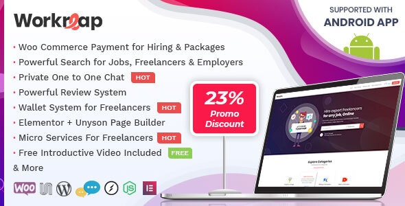 Download Workreap v1.4.0 - Freelance Marketplace WordPress Theme