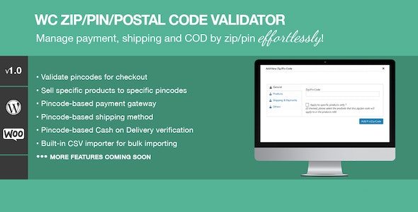 Zip Pin Postal Code Validator For WooCommerce v1.2