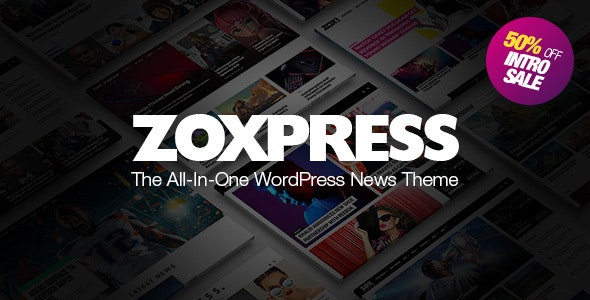 Download ZoxPress v1.04.0 - All-In-One WordPress News Theme