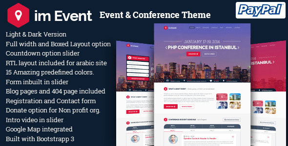 Download im Event v3.2.6 - Event & Conference WordPress Theme