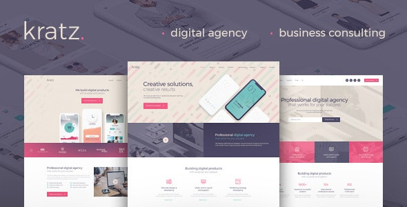 Download Kratz v1.0.2 - Digital Agency Marketing and SEO WordPress Theme
