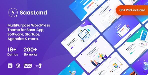 Download SaasLand v3.0.1 - MultiPurpose Theme for Saas & Startup