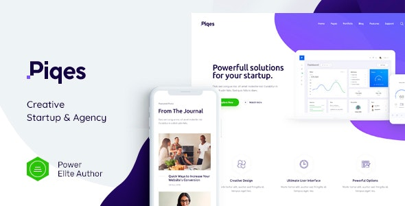 Download Piqes v1.0.1 - Creative Startup & Agency WordPress Theme