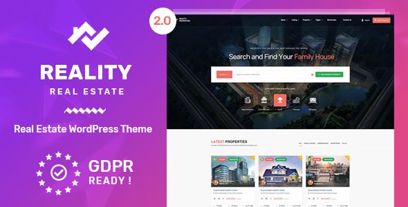 Download Reality v2.5.2 - Real Estate WordPress Theme
