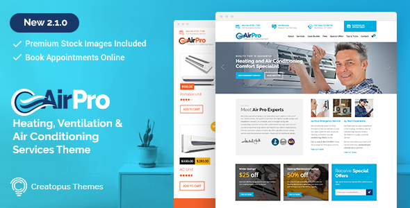 Download AirPro v2.5.3 - Heating and Air conditioning Theme
