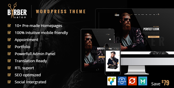 Download Barber v1.2.5 - Hair, Tattoo & Beauty Salons Theme
