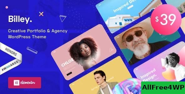 Download Billey v1.0.6 - Creative Portfolio & Agency WordPress Theme