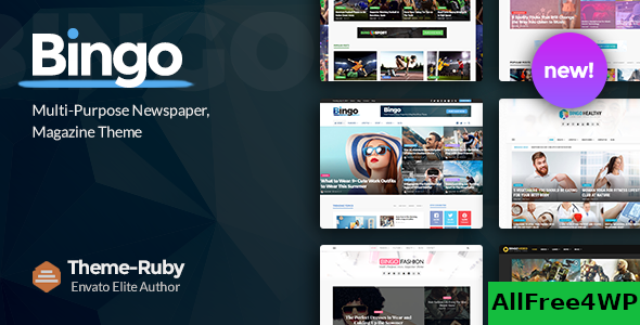 Download Bingo v2.6 - Multi-Purpose Newspaper & Magazine Theme