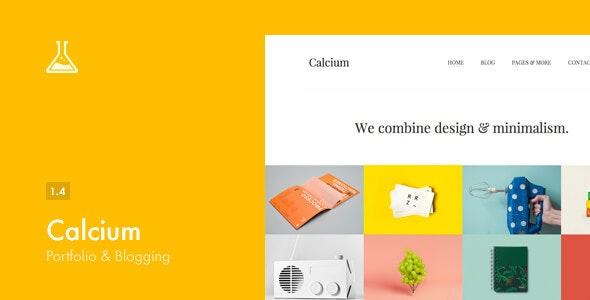 Download Calcium v1.4 - Minimalist Portfolio & Blogging Theme