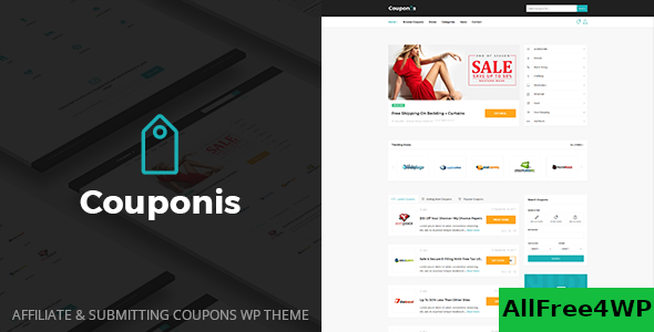 Download Couponis v3.1.2 - Affiliate & Submitting Coupons WordPress Theme