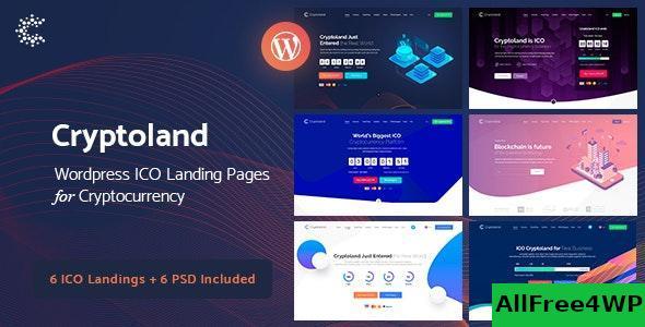Download Cryptoland v2.1.5 - ICO Landing Pages WordPress Theme