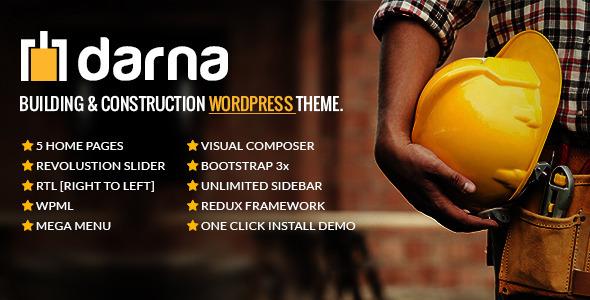 Download Darna v1.2.2 - Building & Construction WordPress Theme