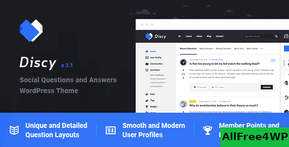 Download Discy v3.9 - Social Questions and Answers WordPress Theme