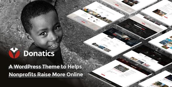 Download Donatics v1.2.41 - Charity & Fundraising WordPress Theme