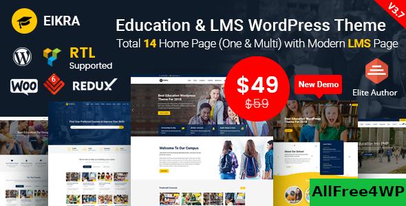 Download Eikra Education v3.8.3 - Education WordPress Theme