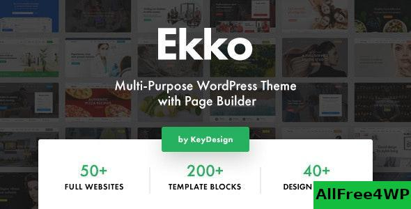 Download Ekko v1.4 - Multi-Purpose WordPress Theme with Page Builder