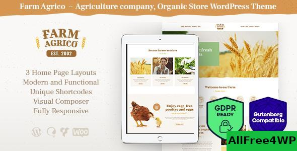 Download Farm Agrico v1.3 - Agricultural Business WordPress Theme