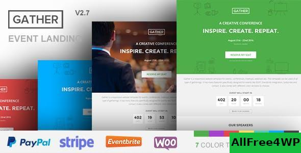 Download Gather v3.0.5 - Event & Conference WP Landing Page Theme