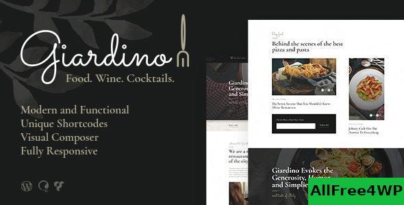 Download Giardino v1.0.5 - An Italian Restaurant & Cafe WordPress Theme