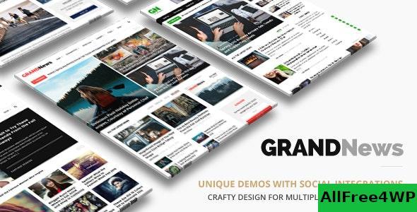 Download Grand News v3.1 - Magazine Newspaper WordPress