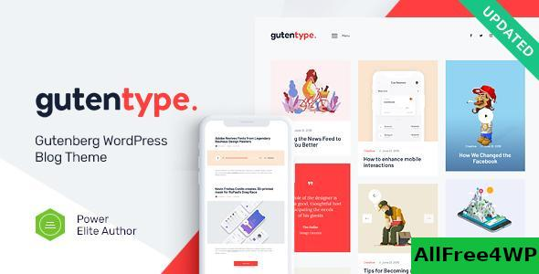 Gutentype v1.9.3 - 100% Gutenberg WordPress Theme