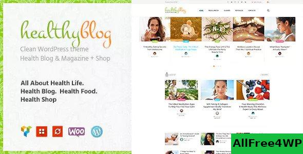 Download Healthy Living v1.2.3 - Blog with Online Store WordPress Theme