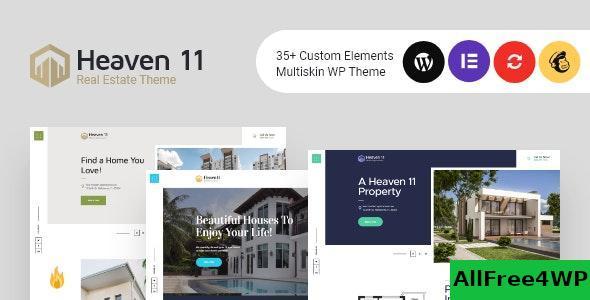 Download Heaven11 v1.0.2 - Property & Apartment Real Estate WordPress Theme