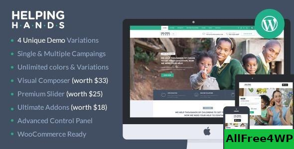 Download HelpingHands v2.7.4 - Charity/Fundraising WordPress Theme