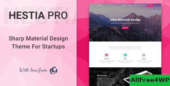 Download Hestia Pro v2.5.7 - Sharp Material Design Theme For Startups